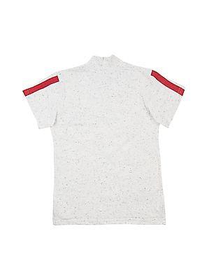 Cherokee Boys Heathered Printed Henley T-Shirt