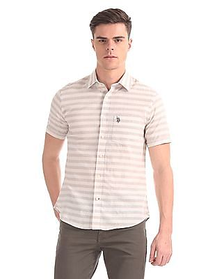 U.S. Polo Assn. Striped Short Sleeve Shirt