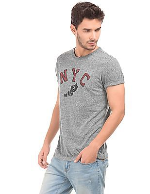 Aeropostale Heather Grey Printed T-Shirt