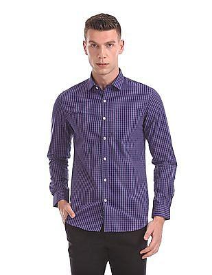 Excalibur Mitered Cuff Check Shirt