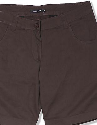 Arrow Woman Slim Fit Solid Shorts