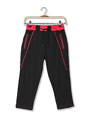 Cherokee Girls Zipper Pocket Solid Track Pants