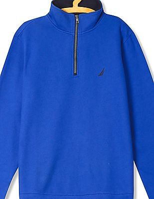 Nautica Long Sleeve Solid Sweatshirt