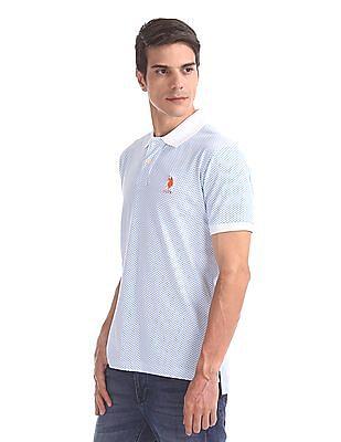 U.S. Polo Assn. Birdseye Printed Polo Shirt