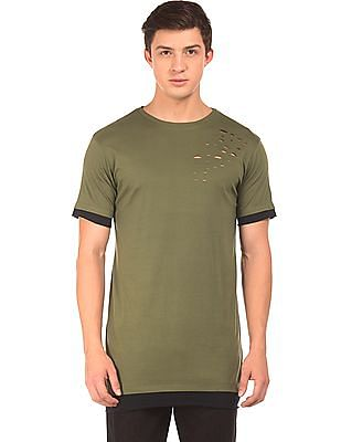 Colt Ripped Front Longline T-Shirt