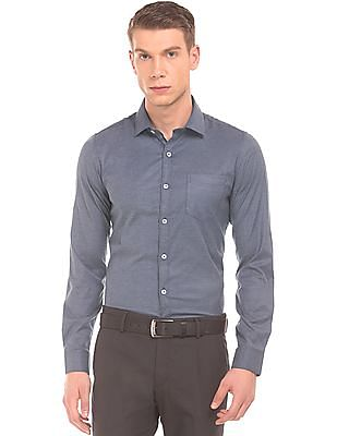 Excalibur Patterned Weave Super Slim Fit Shirt