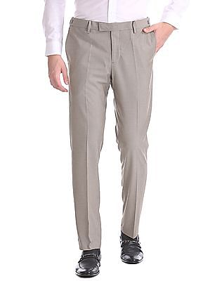 USPA Tailored Tailored Slim Fit Patterned Weave Trousers