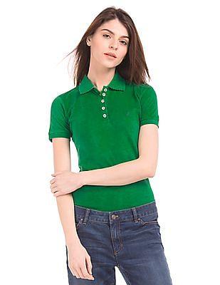 Nautica Solid Piqued Polo Shirt