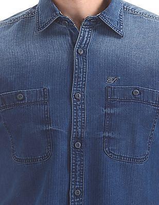Ed Hardy Slim Fit Denim Shirt