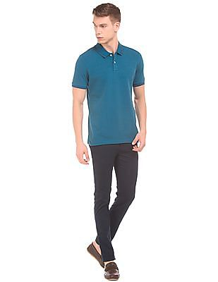 Arrow Sports Tipped Pique Polo Shirt