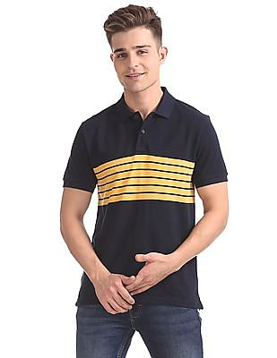 67a3e8597 Izod Short Sleeves Striped Polo Shirt