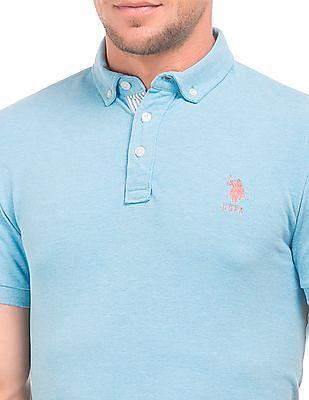 U.S. Polo Assn. Slim Fit Button Down Polo Shirt