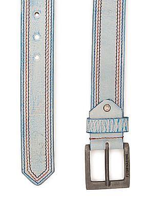 Flying Machine Contrast Stitch Leather Belt