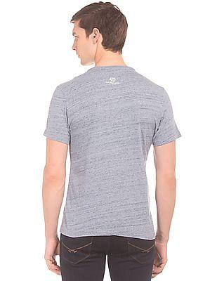 U.S. Polo Assn. Denim Co. Heathered Muscle Fit Henley T-Shirt