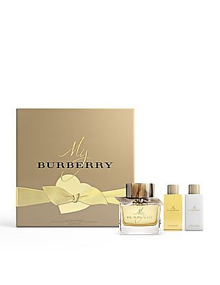 BURBERRY My Burberry Eau De Parfum Spray + Body Lotion + Bathing Gel