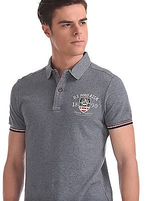 U.S. Polo Assn. Denim Co. Short Sleeve Heathered Polo Shirt