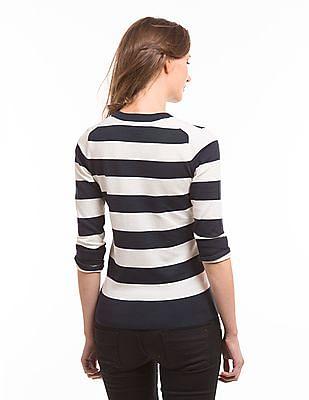 Nautica V-Neck Striped Sweater