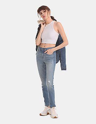 GAP Blue True Skinny Fit Washed Jeans