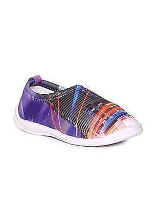 Unlimited Boys Contrast Sole Printed Slip On Shoes