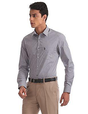 USPA Tailored Regular Fit Check Shirt