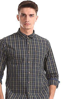 Ruggers Green Spread Collar Check Shirt