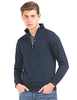 Newport Ribbed Knit High Neck Sweatshirt