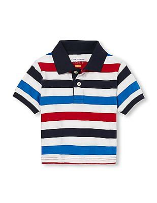 The Children's Place Toddler Boy Short Sleeve Striped Polo