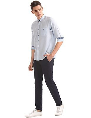 Cherokee Button Down Cotton Linen Shirt