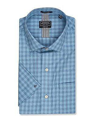 Arrow Newyork Short Sleeve Checked Shirt