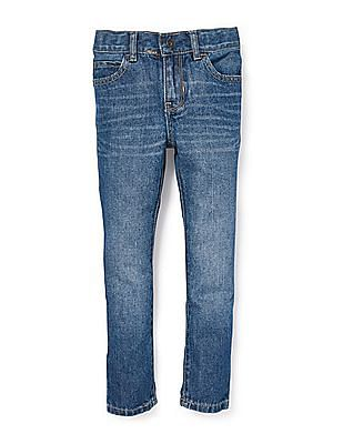 The Children's Place Boys Blue Basic Skinny Jeans - Carbon Wash