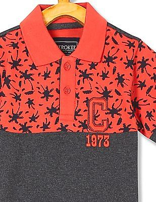Cherokee Boys Printed Short Sleeve Polo Shirt