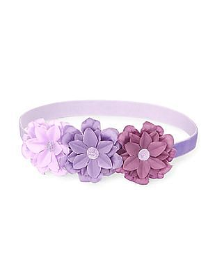 The Children's Place Toddler Girl Purple Flower Velvet Head Wrap