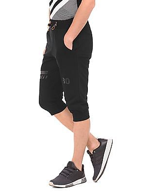 Flying Machine Solid Cropped Joggers
