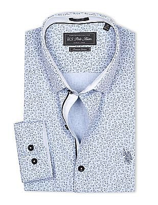 USPA Tailored Slim Fit Paisley Printed Shirt