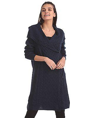 Elle Shawl Collar Longline Sweater