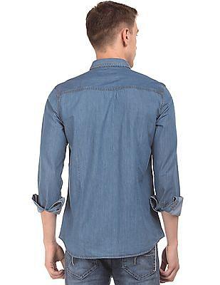 Flying Machine Solid Slim Fit Shirt