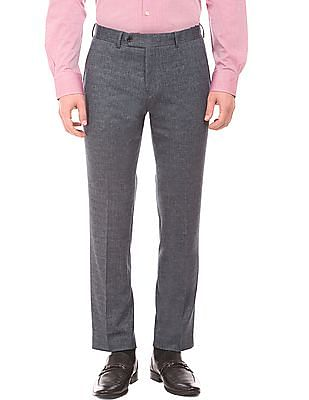 Arvind Front Crease Check Trousers