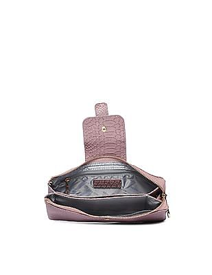 U.S. Polo Assn. Women Textured Zip Around Wallet