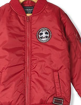 Cherokee Red Boys Solid Bomber Jacket