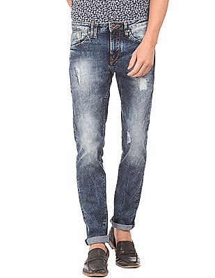 Flying Machine Acid Wash Skinny Fit Jeans
