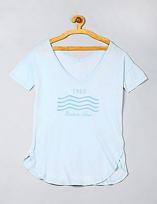 GAP Girls Flutter Graphic Banded Tee