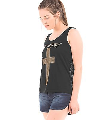 EdHardy Women Embellished Tank Top