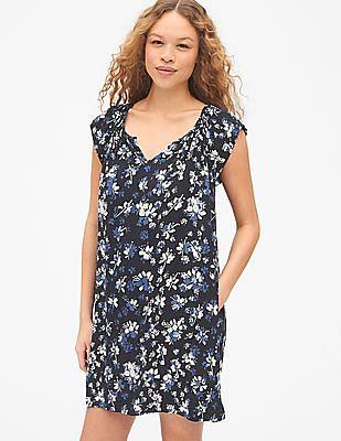 GAP Raglan Sleeve Printed Dress