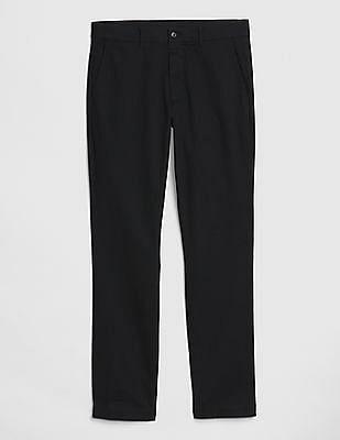 GAP Black Modern Khakis In Slim Fit With GapFlex