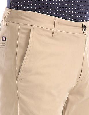 Arrow Sports Slim Fit Patterned Trousers
