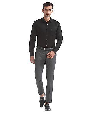 USPA Tailored Slim Fit Solid Shirt