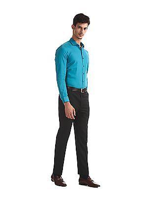 Excalibur Green Slim Fit Check Shirt