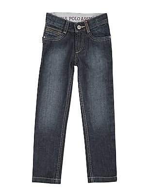 U.S. Polo Assn. Kids Boys Regular Fit Stone Wash Jeans