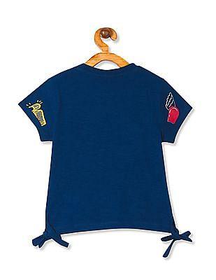 Cherokee Girls Short Sleeve Graphic Top