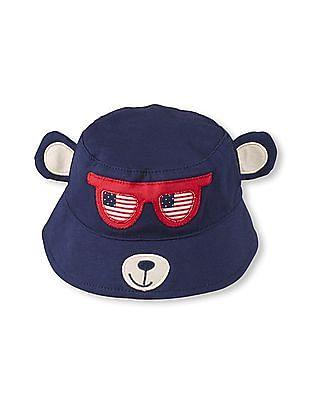 The Children's Place Baby Boys American Flag Sunglasses Bear Bucket Hat